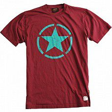 Triko Alpha Industries Star T Burgundy