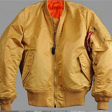 bunda Alpha Industries MA-1 Gold
