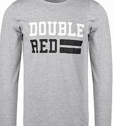 triko s dlouhým rukávem DOUBLE RED UNIVERSITY OF RED long sleeve Grey