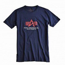 Triko Alpha Industries Basic Foam Print T rep blue