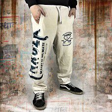 Tepláky Yakuza FIGHT FAITH job 9038 bone white