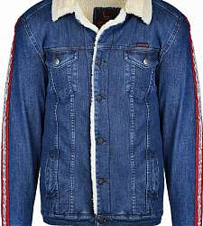 bunda DOUBLE RED RED JEANS Fly Jacket Blue/White
