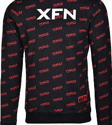 mikina DOUBLE RED XFN Fighters Club/DOUBLE RED Full Logo Black