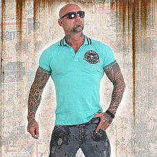 polo triko Yakuza PRETTY FAR TPO 12023 Turquoise