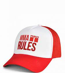 kšiltovka DOUBLE RED MMA RULES Red Cap