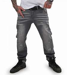 jeans Yakuza Destroyer Straight JEB 15044 Grey Havoc