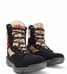 boty DOUBLE RED Red Desert Camo boots Code Black