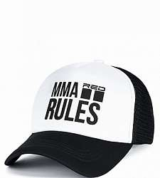 kšiltovka DOUBLE RED MMA RULES Black Cap