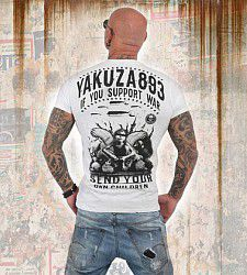 triko Yakuza SUPPORT? TSB 13042 White